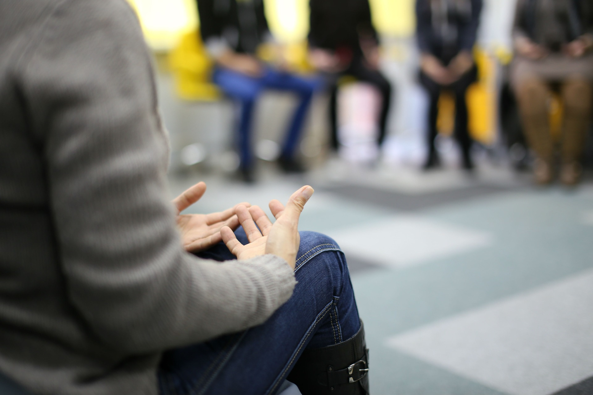 Group Therapy, relaxing hands